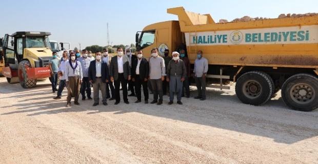 """Başkan Canpolat """"Haliliye Belediyesi olarak sahada hummalı bir şekilde çalışmaya devam ediyoruz"""""""
