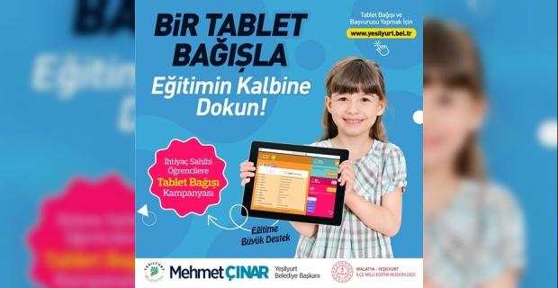 """Başkan Çınar """"Bir Tablet Bağışla Eğitimin Kalbine Dokun"""""""