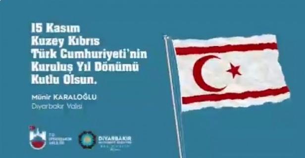 """Vali Karaloğlu """"ay yıldızlı bayrağı Akdeniz'de dalgalandıran kahramanlarımızı rahmet ve şükranla anıyorum"""""""