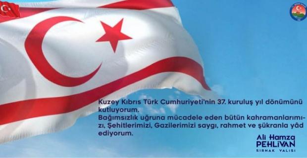 """Vali Pehlivan """"Gazilerimizi saygı, rahmet ve şükranla yâd ediyorum"""""""