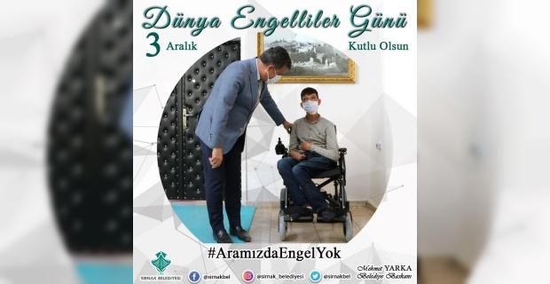 """Başkan Yarka """"bütün engelli vatandaşlarımızın 3 Aralık Dünya Engelliler Günü'nü kutluyorum"""""""