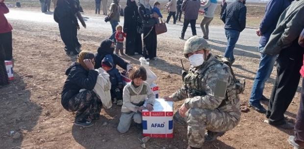 """Milli Savunma Bakanlığı """"Ülkemizin yardım eli Barış Pınarı bölgesine uzanmaya devam ediyor"""""""