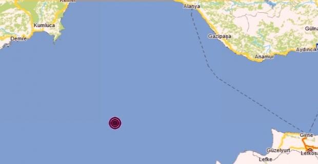 Marmaris açıklarında 4.6 büyüklüğünde deprem