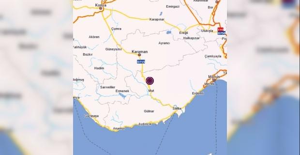 Mersin Mut Merkezli 3.9 büyüklüğünde deprem