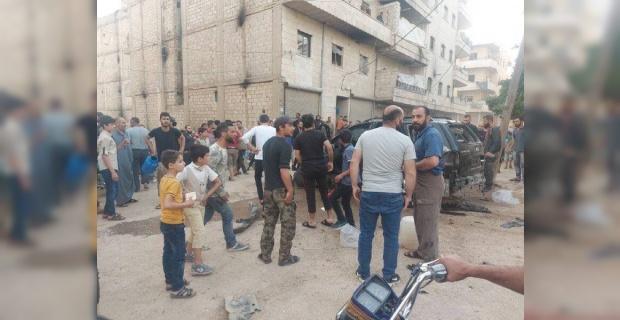 Afrin'de gerçekleştirilen bombalı terör saldırısında 5 çocuk yaralandı.