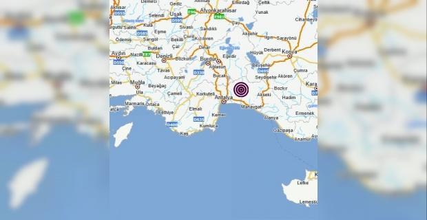 Antalya Manavgat merkezli 3.5 büyüklüğünde deprem