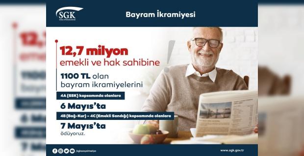 Bayram İkramiyeleri 6 Mayıs'ta Ödenecek