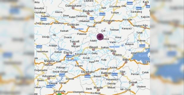 Bingöl Karlıova merkezli 3.6 büyüklüğünde deprem