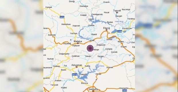 Malatya Pütürge merkezli 3.9 büyüklüğünde deprem