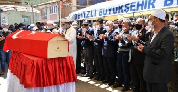 Şehit Polis Memuru Veli Kabalay son yolculuğuna uğurlandı.