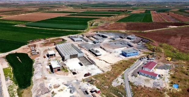 Suruç'ta 80.000 m3 kapasiteli içmesuyu arıtma tesisi inşaatı devam edyor.