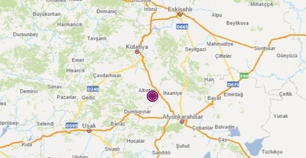 Kütahya Altintas merkezli 5 büyüklüğünde deprem