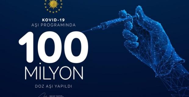 """Cumhurbaşkanı Erdoğan """"100 milyon doz aşı sayısına ulaştık"""""""