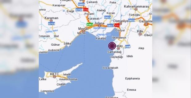 Hatay Arsuz'da 3.9 büyüklüğünde deprem