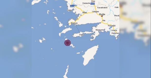 Muğla Datça açıklarında 4.5 büyüklüğünde deprem