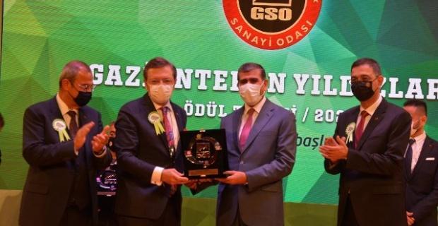 Altunkaya Şirketler Grubu'na Gaziantep'in Yıldızları Ödülü