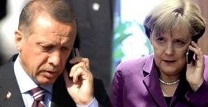 Cumhurbaşkanı Erdoğan Merkel ile görüştü.