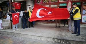 """Haliliye Belediyesi """" İlçemizi bayraklarla donatıyoruz."""""""