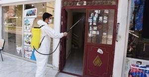 Hilvan Belediyesi,dezenfekte çalışmalarına devam ediyor.