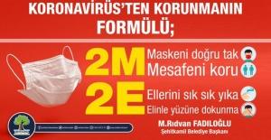 """Şehitkamil Belediye Başkanı Fadıloğlu """"Kovid-19, bize bir nefes bir dokunuş kadar yakın"""""""