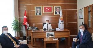 Başkan Yıldız ve Beyazgül,Özhaseki'yi Ziyaret Ettiler.