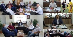 K. Karaköprü Belediyespor Yönetiminden Şanlıurfa  Büyükşehir Belediyesi Spor Şb.Müdürlerine ziyaret