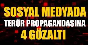 Sosyal medyadan örgüt propagandası yapan (4) şüpheli yakalanarak gözaltına alındı