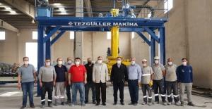 Başkan Beyazgül,kilitli parke taşı üretim tesisini Şanlıurfa'ya kazandırıyor.