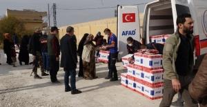 Barış Pınarında AFAD İnsani Yardımları Devam Ediyor