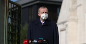 """Cumhurbaşkanı Erdoğan: """"Şu anda Sağlık Bakanlığımızın da attığı adımlarla tedbirleri almaya mecburuz ve alacağız"""""""