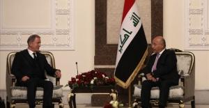 Bakan Akar,Irak Cumhurbaşkanı Berham Salih İle Görüştü