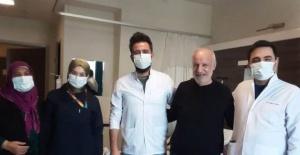 Birecik'te 64 yaşındaki Covid-19 hastası 79 gün sonra taburcu oldu.
