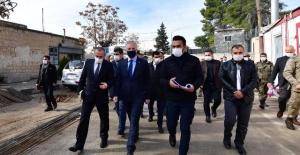 Gaziantep Valisi Gül Cereblus'ta incelemelerde bulundu