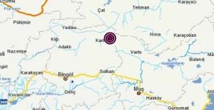Bingöl Karlıova merkezli 4.1 büyüklüğünde deprem