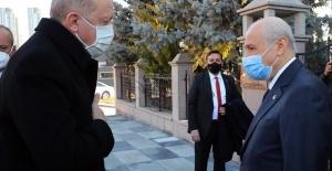 Cumhurbaşkanı Erdoğan,Bahçeli'yi Ankara'daki konutunda ziyaret ediyor.