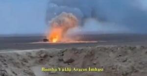 İmha edilen araçta 25-30 kg civarında patlayıcı madde olduğu belirlendi.