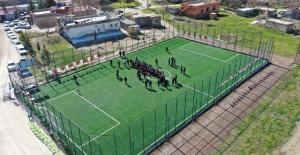 Karaköprü Kırsalında Spor Yatırımları Devam Ediyor
