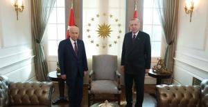 Cumhurbaşkanı Erdoğan,Bahçeli İle Bir araya Geldi.
