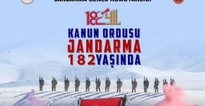 Jandarma Teşkilatı'nın 182. kuruluş yıl dönümünü kutlu olsun.