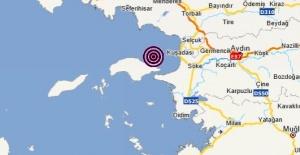 Aydın,Kuşadası Merkezli 3.5 Büyüklüğünde Deprem