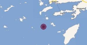 Muğla,Datça açıklarında 3.6 büyüklüğünde deprem