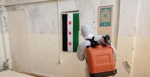 Barış Pınarı Bölgesinde dezenfeksiyon çalışmaları sürüyor.