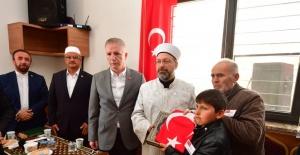 Diyanet İşleri Bașkanı Prof. Dr. Ali Erbaş taziye ziyaretinde