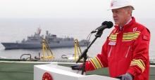 """Cumhurbaşkanı Erdoğan: """"Sakarya Sahası'nın Tuna-1 bölgesindeki toplam doğal gaz rezervi miktarı 405 milyar metreküpü buldu"""""""
