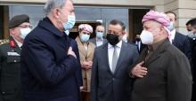 Bakan Akar,IKBY Başbakanı Mesrur Barzani ile bir araya geldi.