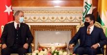 Bakan Akar, IKBY Başkanı Neçirvan Barzani ile görüştü.